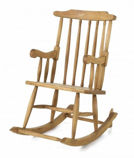 Rocking-chair en pin massif-2