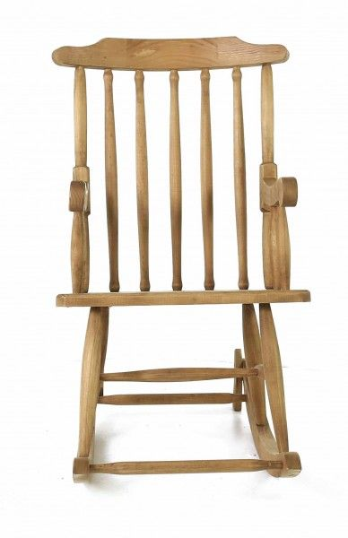 Rocking-chair en pin massif-1