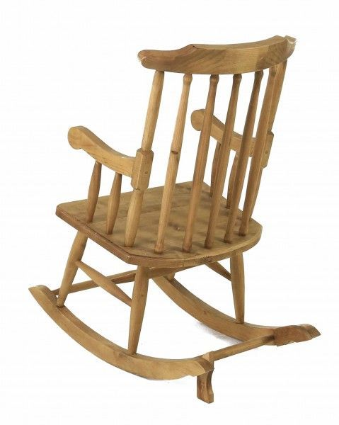 Rocking-chair en pin massif-4