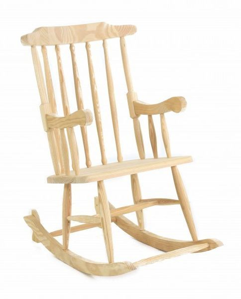 Rocking chair en pin massif - Prix d un rocking chair ...