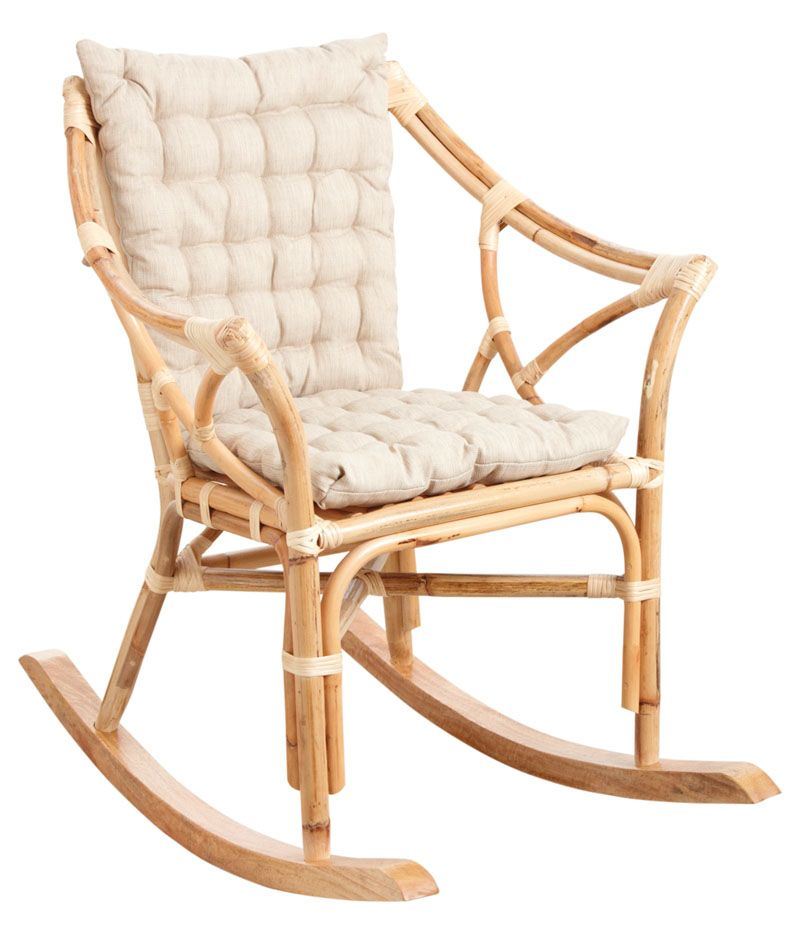 rocking chair en rotin naturel. Black Bedroom Furniture Sets. Home Design Ideas
