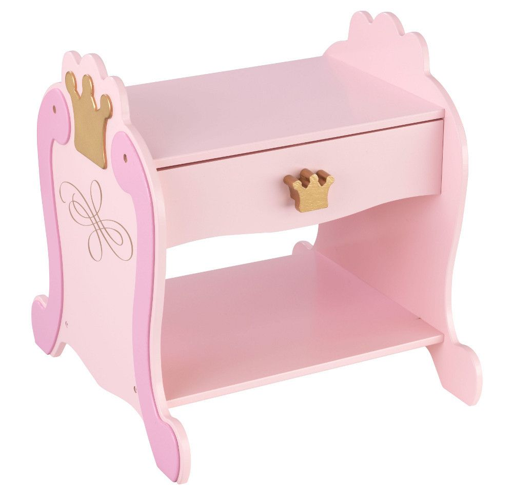Table de nuit princesse chevet kidkraft sur for Table de nuit enfant