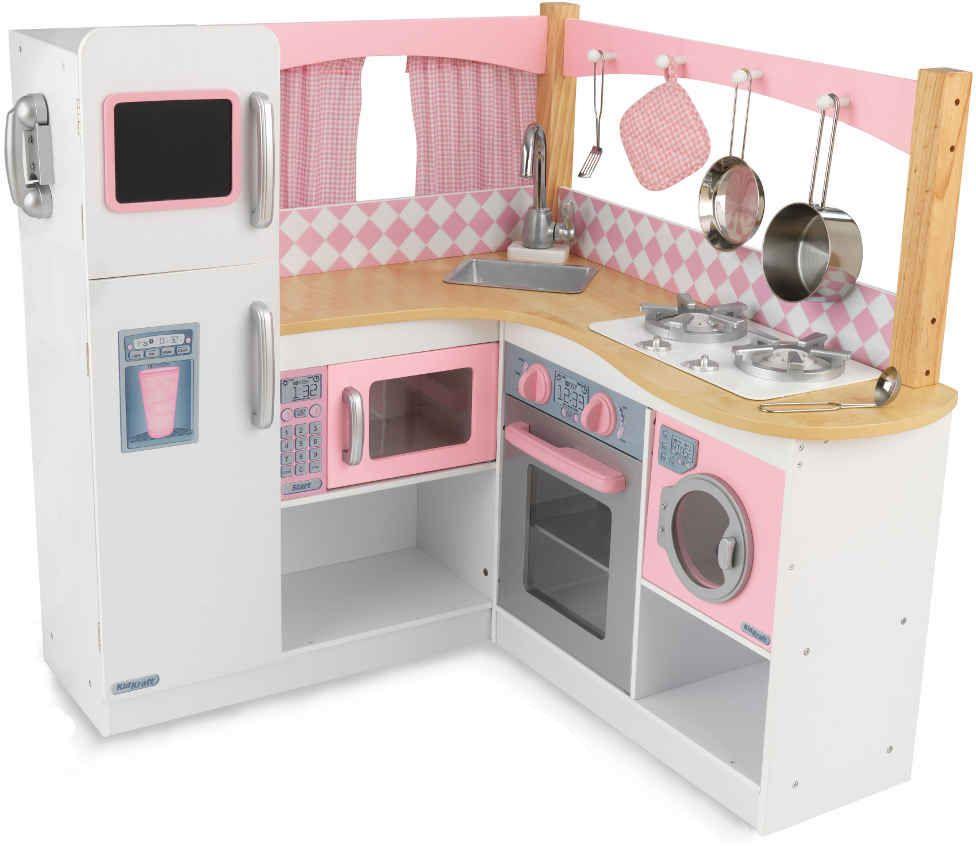 grande cuisine d 39 angle pour enfant cuisine vaisselle kidkraft sur. Black Bedroom Furniture Sets. Home Design Ideas