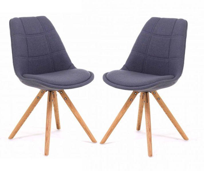 chaise tissu et bois sweet. Black Bedroom Furniture Sets. Home Design Ideas