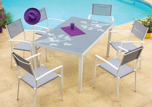 Salon Bambou 1 table + 6 fauteuils