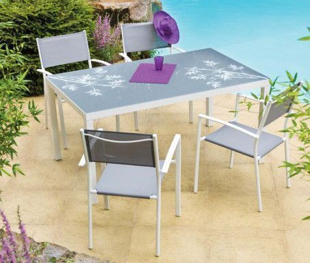 Salon Bambou 1 table + 4 fauteuils
