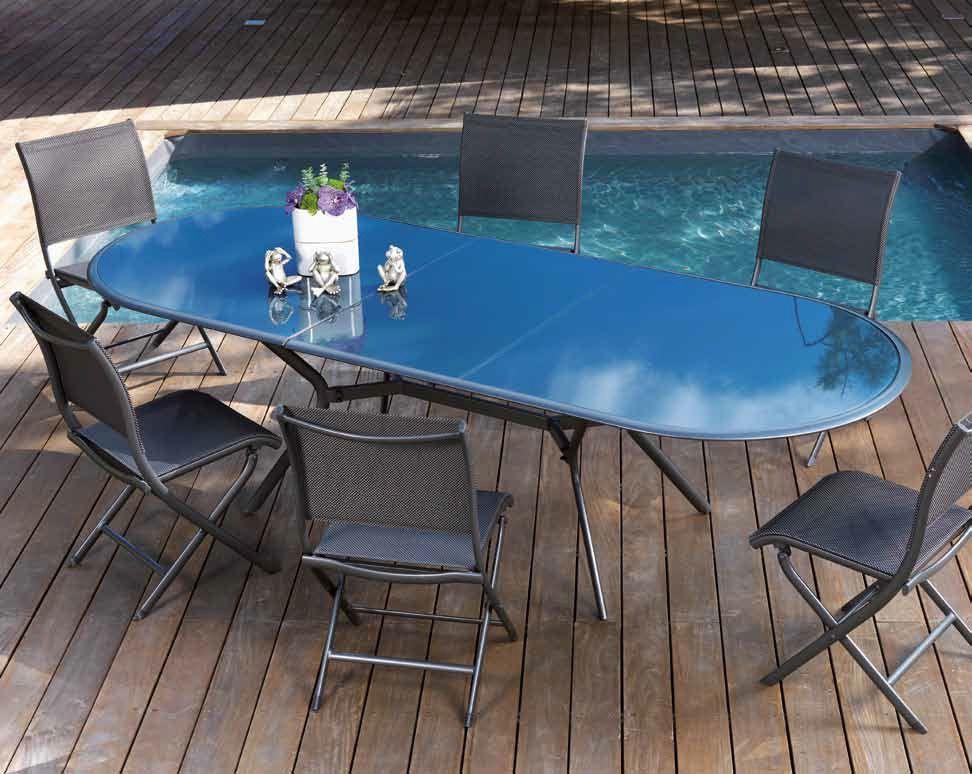 Salon bilbao 1 table + 6 chaises