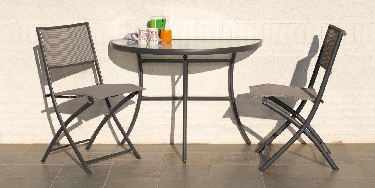 Table pour balcon for Table de cuisine demi lune