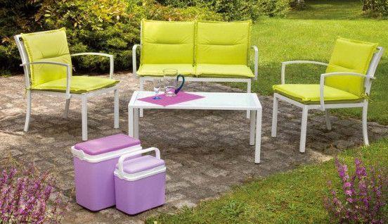 Salon d tente vert anis 1 canap 2 fauteuils 1 tabl for Canape vert anis