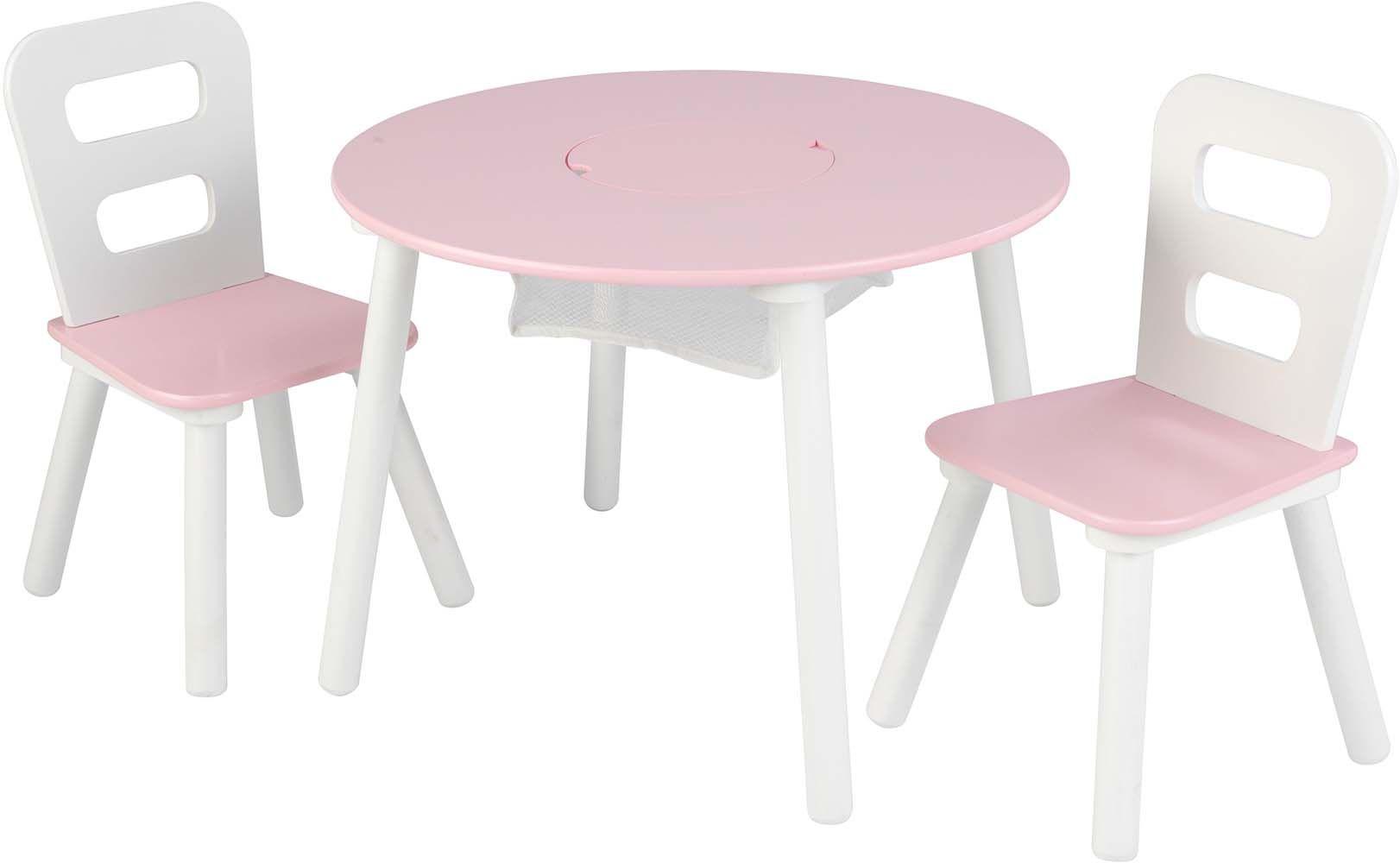 Salon pour enfant design rose blanc for Salon pour enfants
