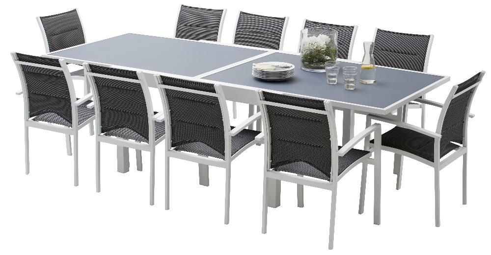 Salon de jardin Modulo 1 table + 10 fauteuils by Wilsa garden