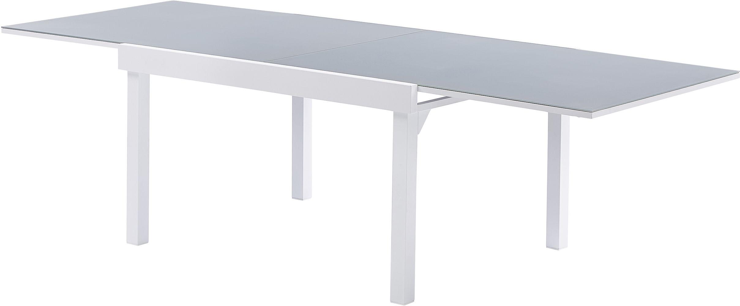 Salon de jardin moderne 10 personnes modulo blanc - Table jardin foire fouille fort de france ...