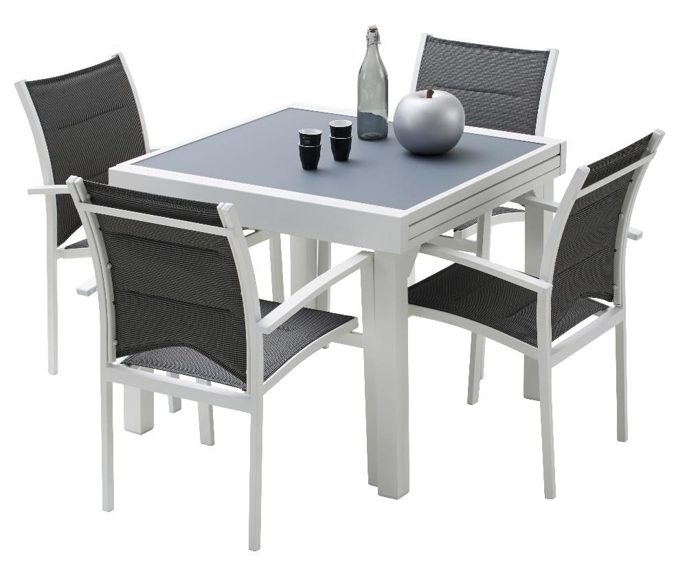 Salon de jardin Modulo 1 table + 4 fauteuils by Wilsa garden