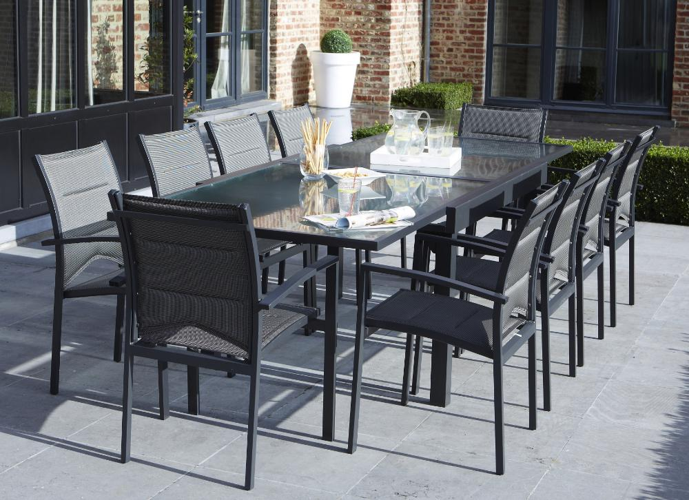 salon de jardin modulo 1 table 10 fauteuils. Black Bedroom Furniture Sets. Home Design Ideas