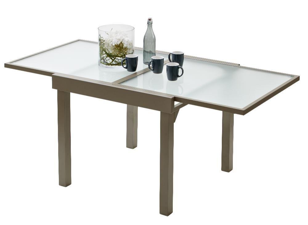 Salon de jardin modulo 1 table 4 fauteuils - Salon de jardin bois taupe ...