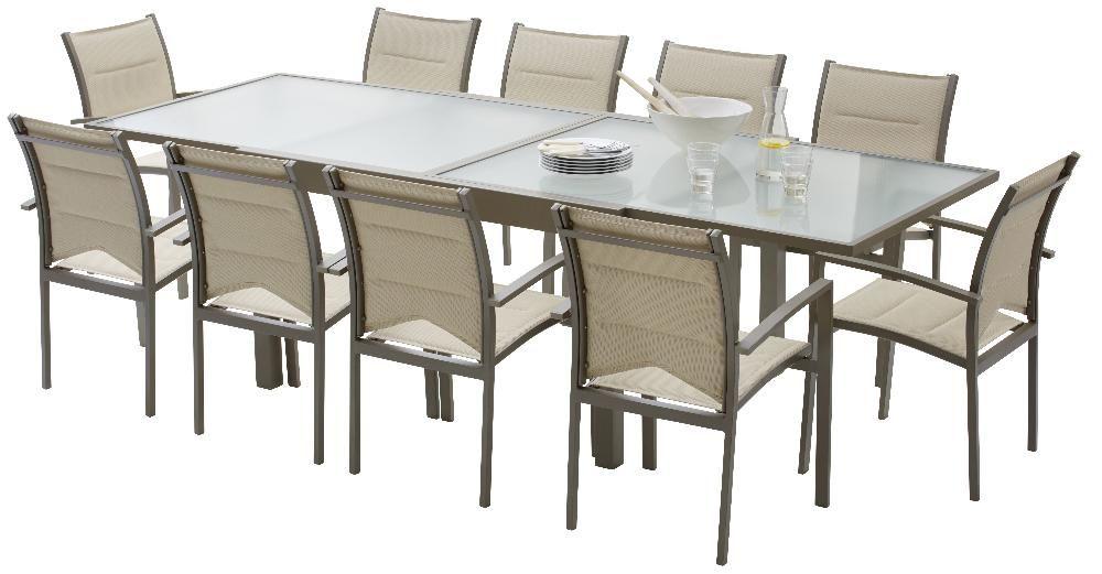 Salon de jardin modulo 1 table 10 fauteuils for Salon de jardin 12 personnes