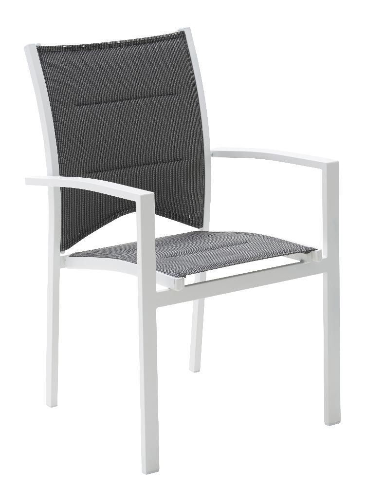 Salon de jardin modulo 1 table 4 fauteuils 4 chaise for Salon 4 fauteuils