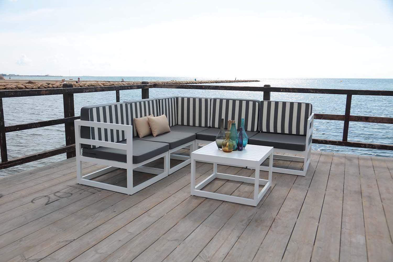 salon de jardin en aluminium belafor. Black Bedroom Furniture Sets. Home Design Ideas