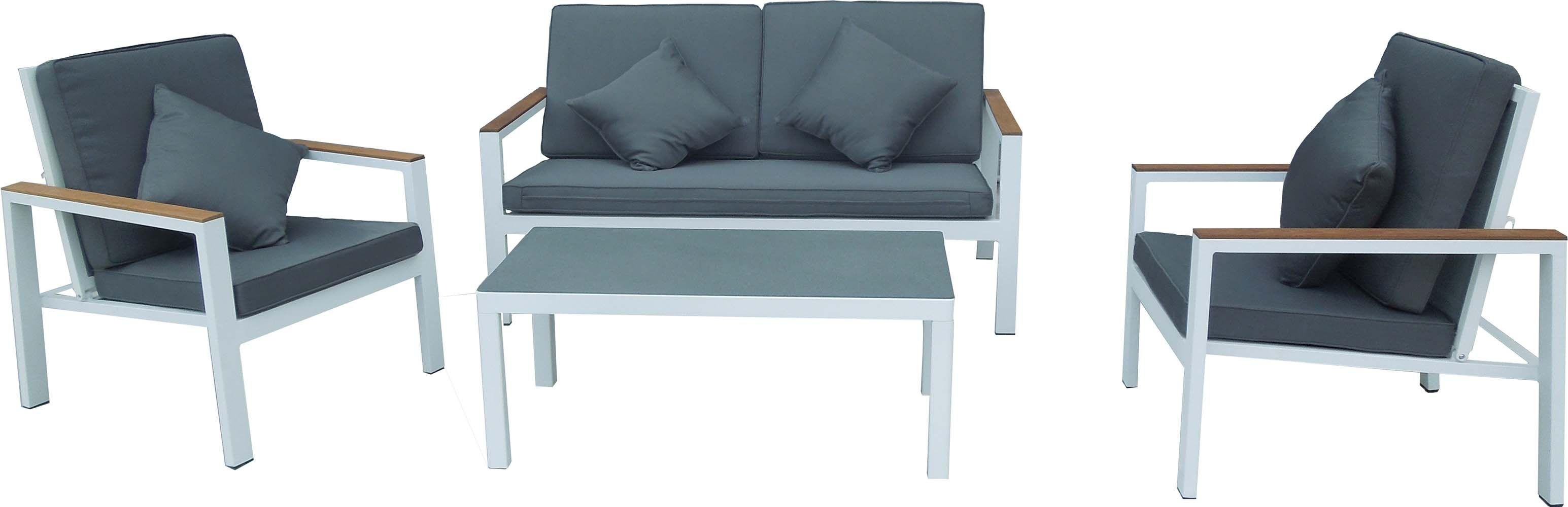 beautiful salon de jardin bas aluminium blanc photos. Black Bedroom Furniture Sets. Home Design Ideas