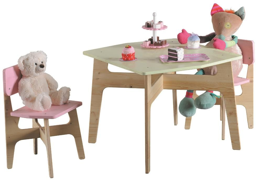 Salon jardin enfant bois brut for Salon de jardin geant