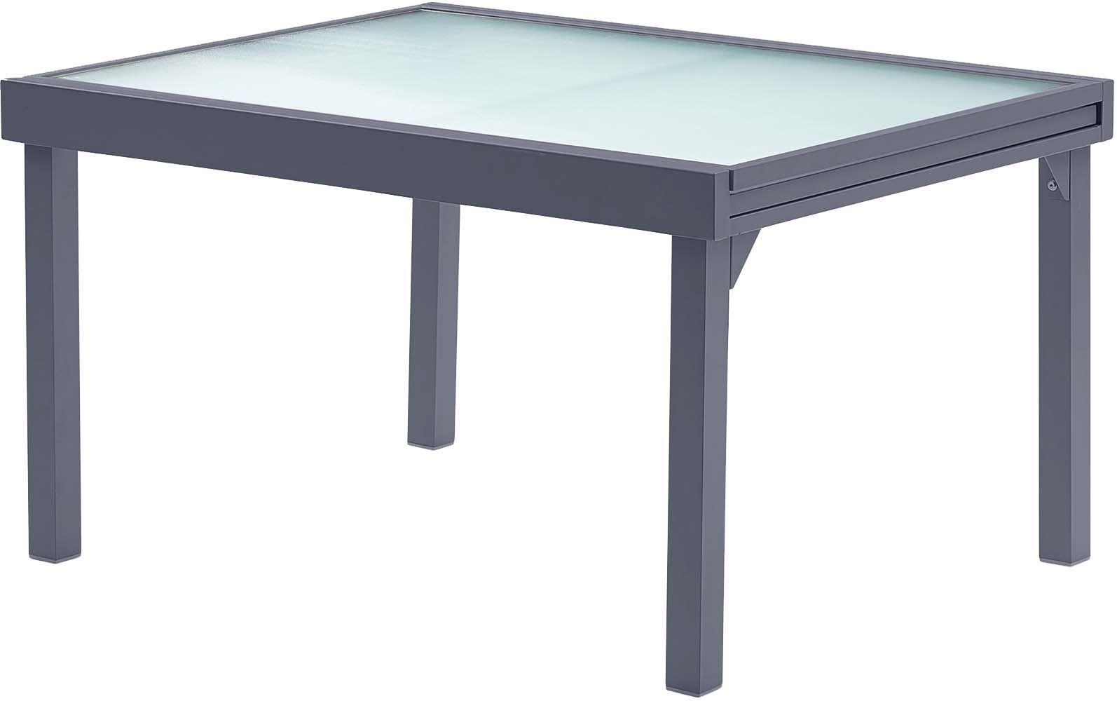 Salon de jardin moderne 6 personnes modulo gris - Table de jardin moderne ...