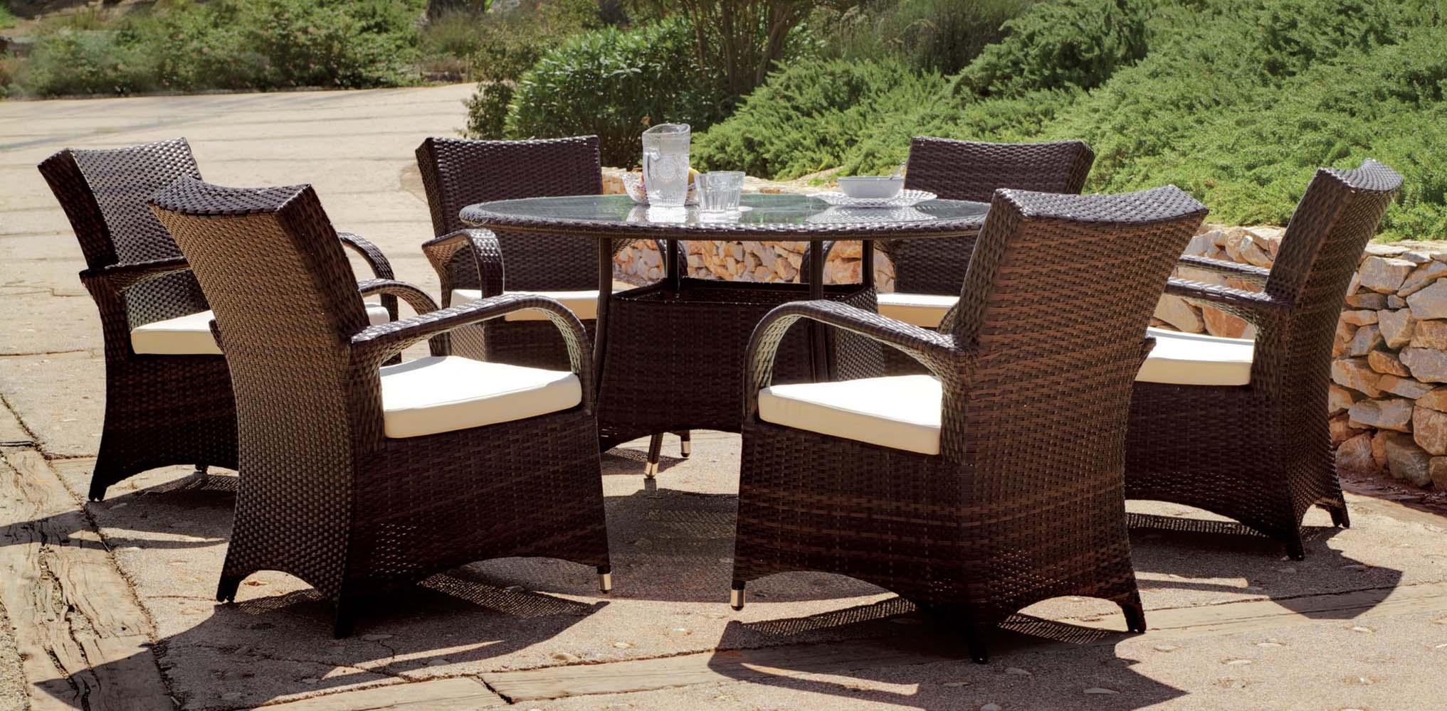 salon de jardin 6 personnes oregon. Black Bedroom Furniture Sets. Home Design Ideas