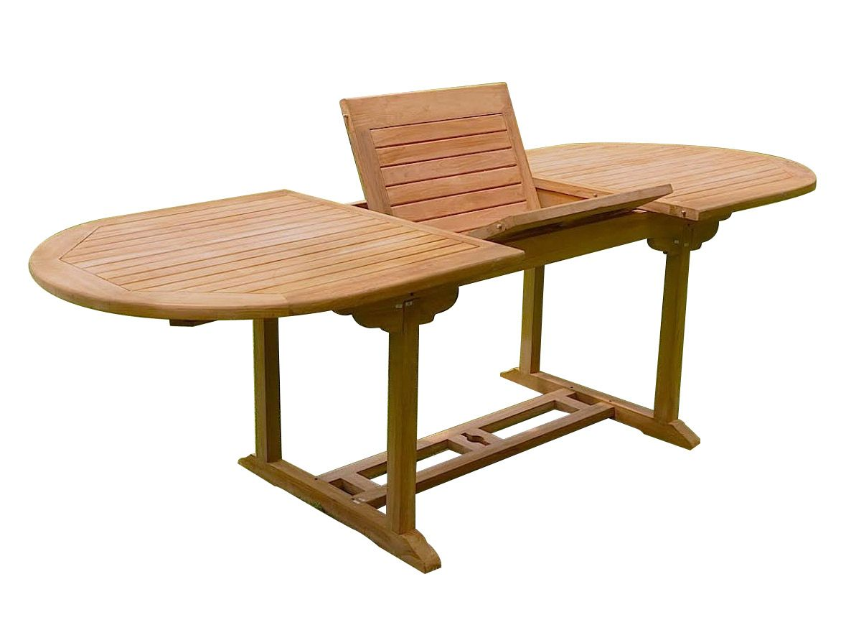Salon de jardin teck 8 places (6 chaises 2 fauteuils)