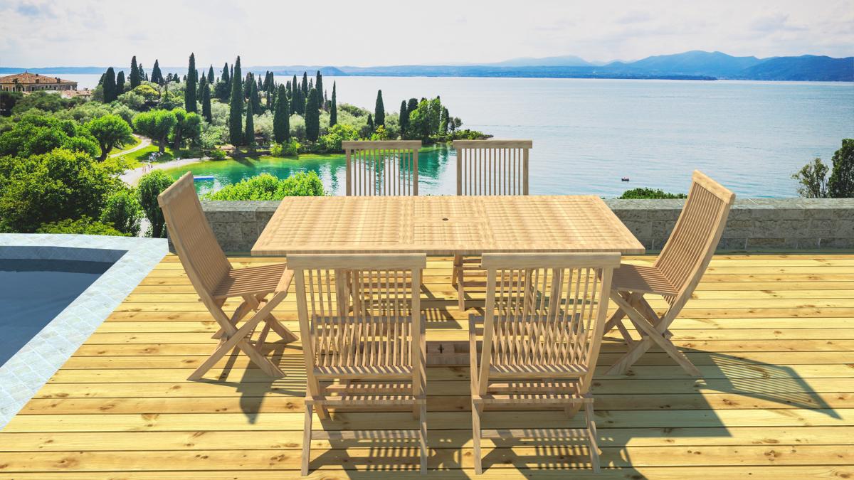 salon jardin teck rallonge 6 places. Black Bedroom Furniture Sets. Home Design Ideas