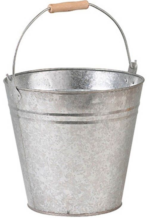 Seau rond en zinc 8 litres - Cache pot en zinc ...