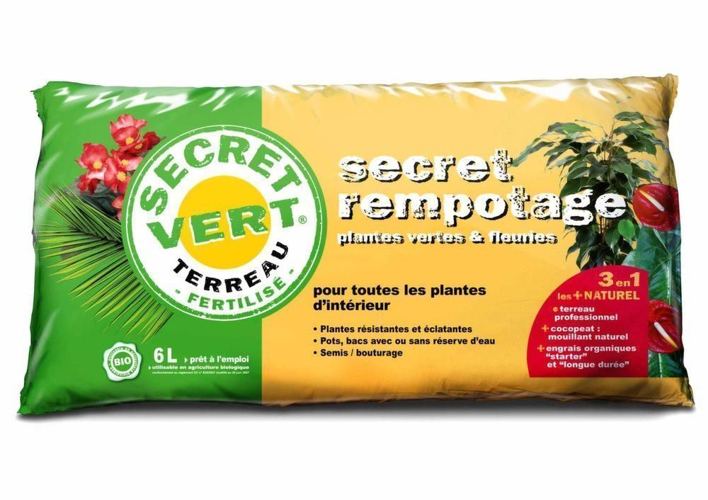 Terreau de rempotage 1,5kg by Secret vert