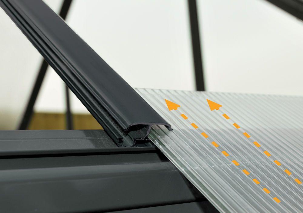 Serre victorienne polycarbonate et alu 5 73m - Plan de serre en bois et panneaux polycarbonate ...