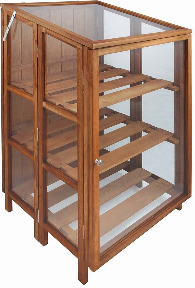 serre haute de jardin en bois dur. Black Bedroom Furniture Sets. Home Design Ideas
