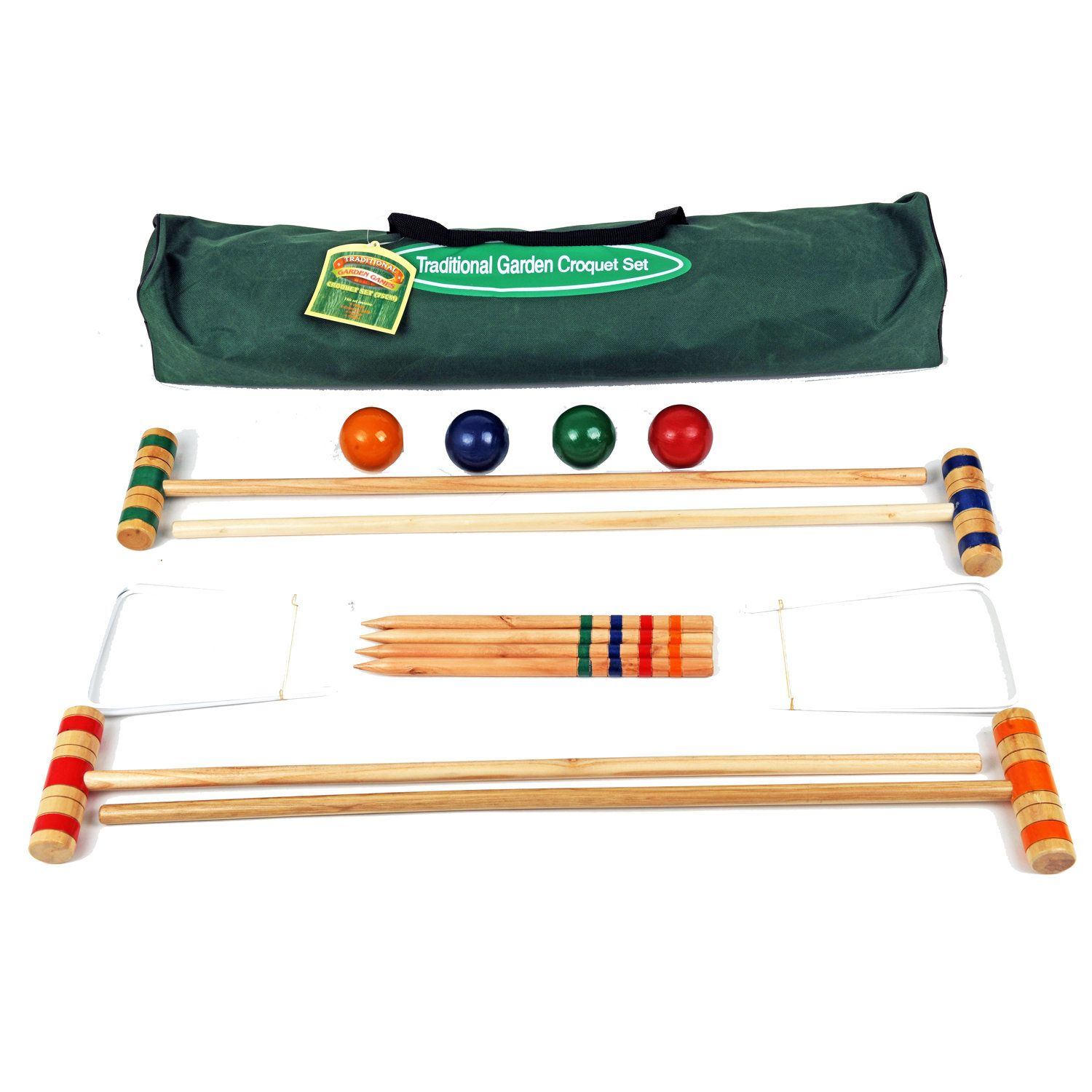 Set de croquet enfant en bois by Traditional garden games