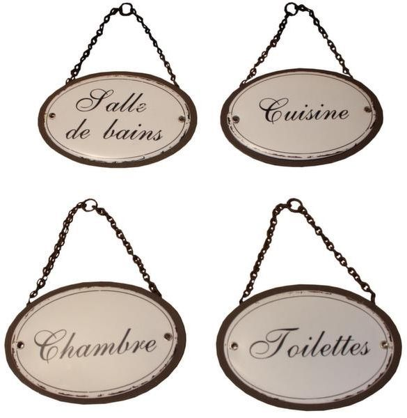 Plaques de porte pour la maison duchesse lot de 4 for Plaque de porte decorative