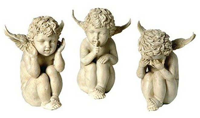 Set statuettes anges (Lot de 3) sur Jardindeco