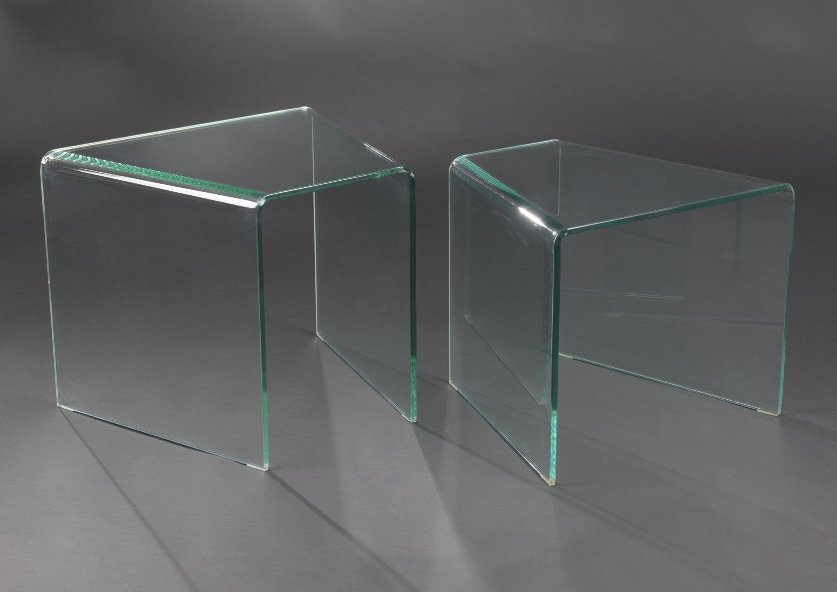 image_Tables gigognes en verre (Lot de 2)