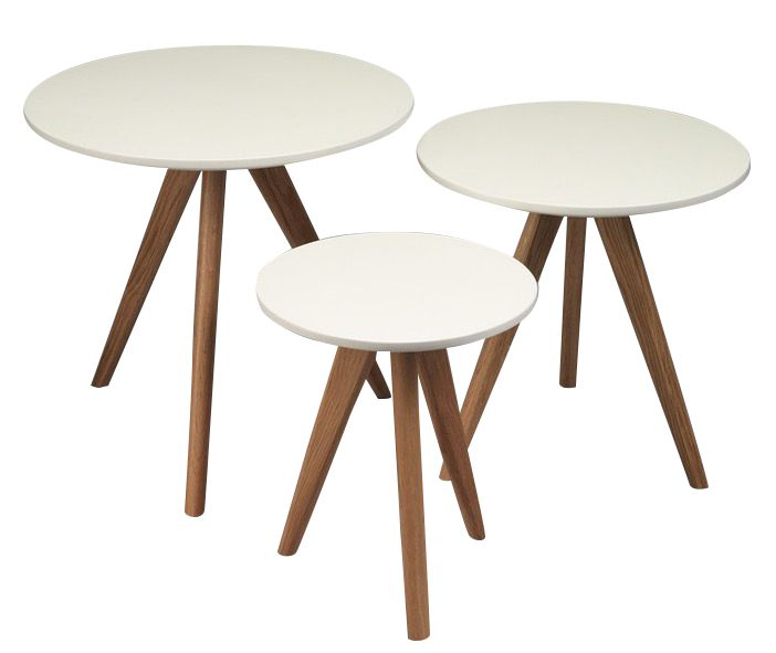 Set de 3 tables gigognes Scandi
