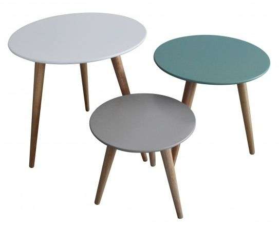 Set 3 tables gigognes stockholm - Table basse scandinave gigogne ...