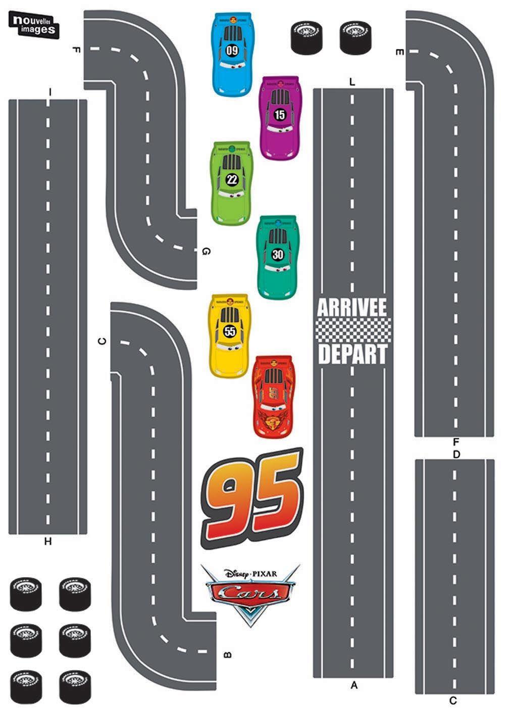 sticker mural cars circuit voiture. Black Bedroom Furniture Sets. Home Design Ideas