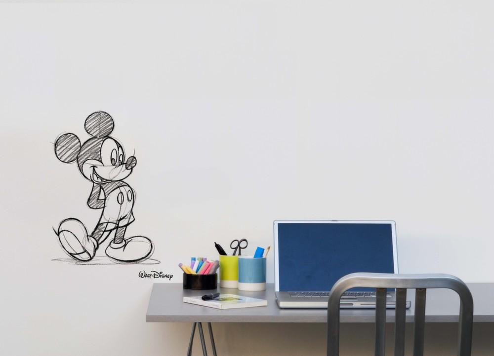 Sticker mural Mickey type croquis-2