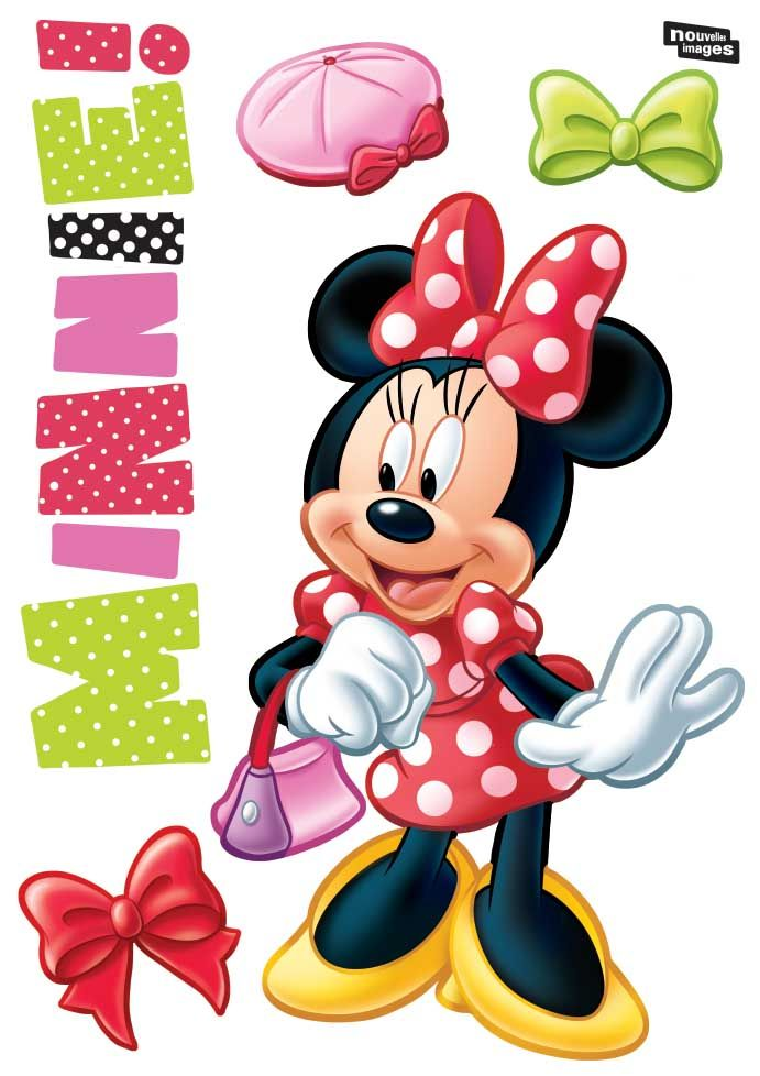 Sticker mural Minnie fashion-3