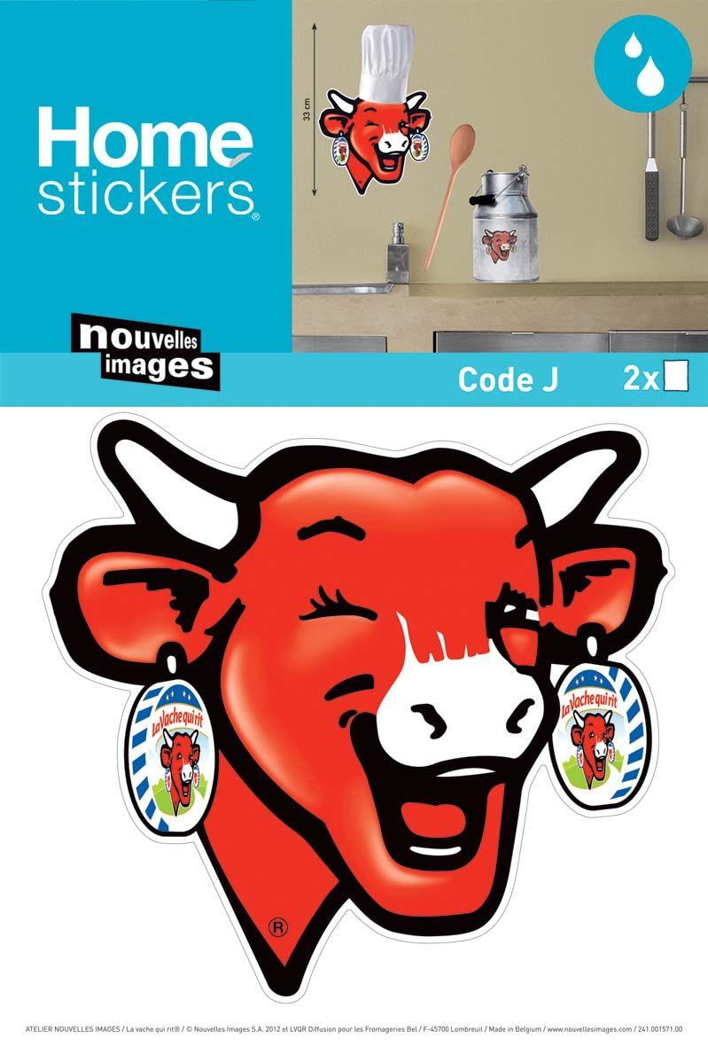 sticker mural la vache qui rit cuisine. Black Bedroom Furniture Sets. Home Design Ideas
