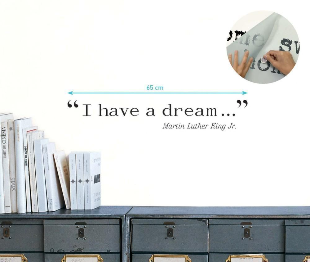 Sticker mural citation I have a dream de Martin Luther King-3