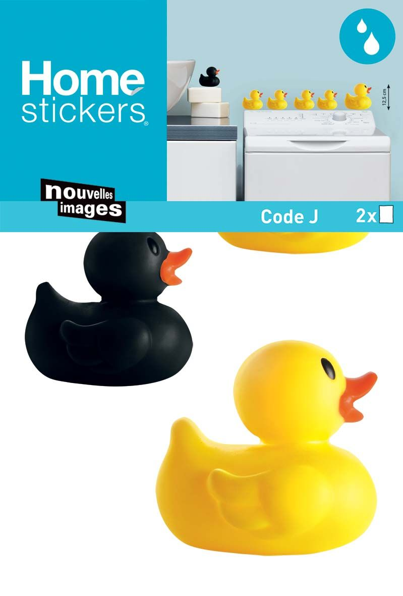 image_Sticker mural famille canard SDB