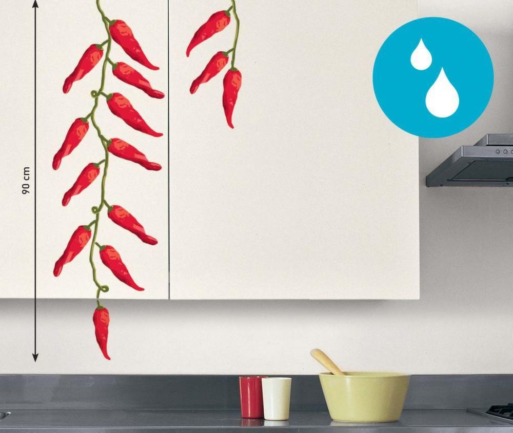 sticker mural piment rouge cuisine. Black Bedroom Furniture Sets. Home Design Ideas