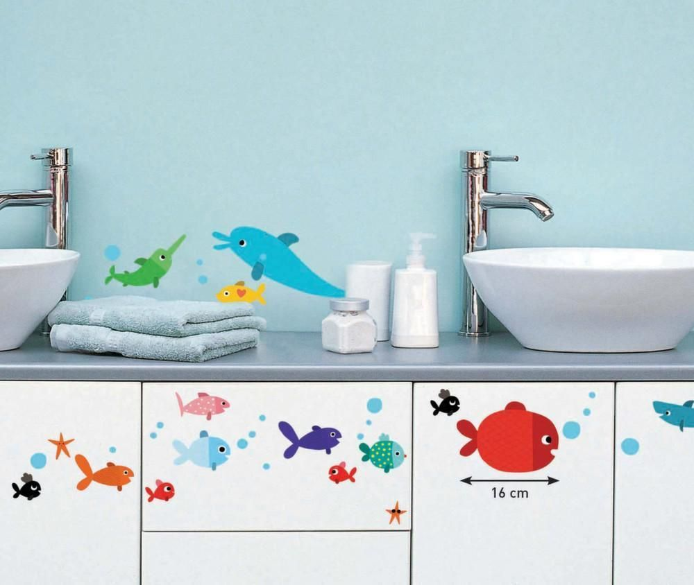 Sticker mural poisson-1