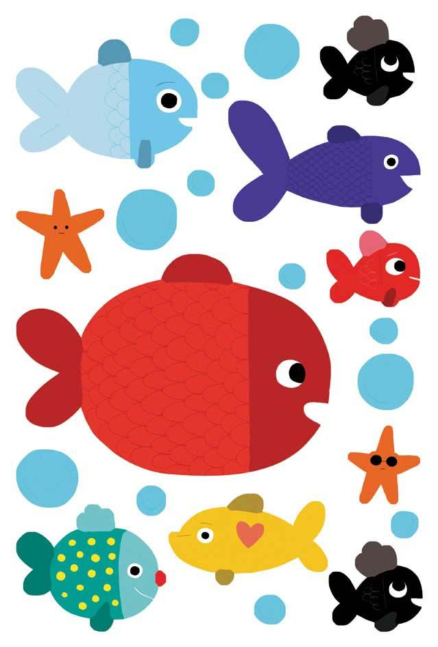 Sticker mural poisson-2