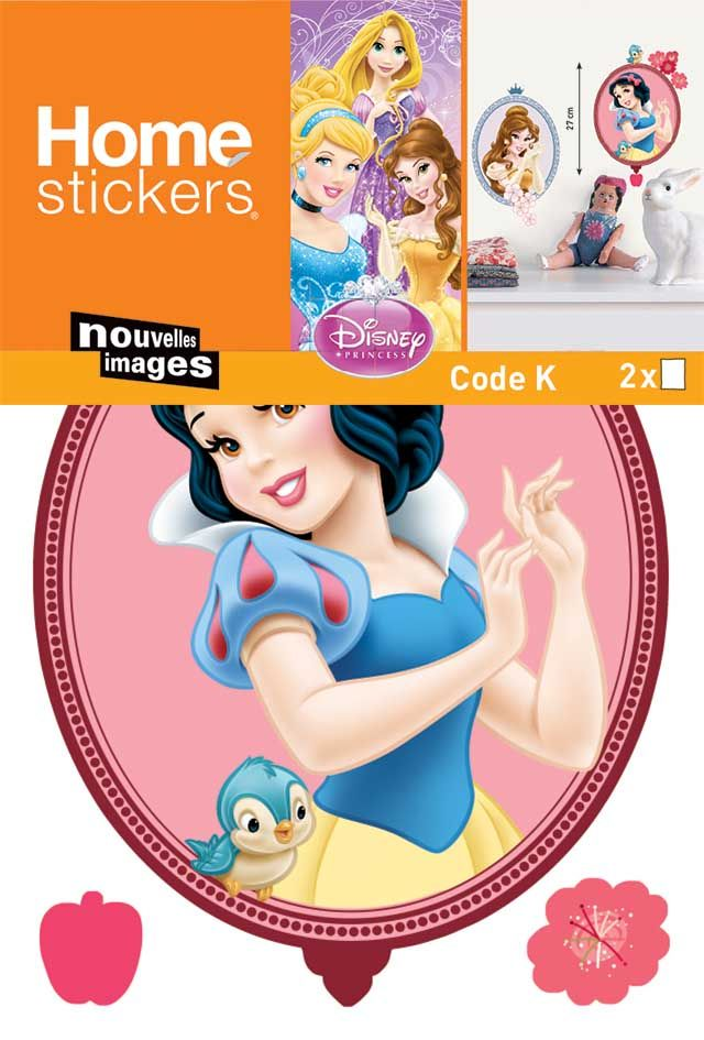 image_Sticker mural princesses forme tableau