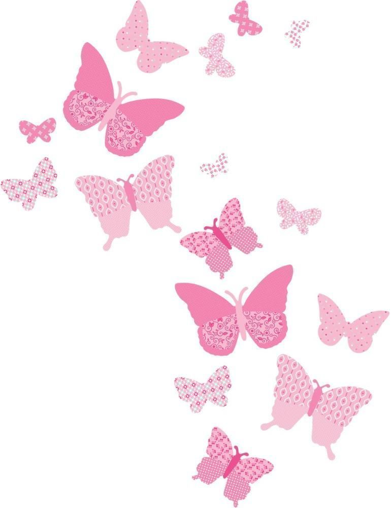 Stickers muraux Les papillons (Lot de 16)