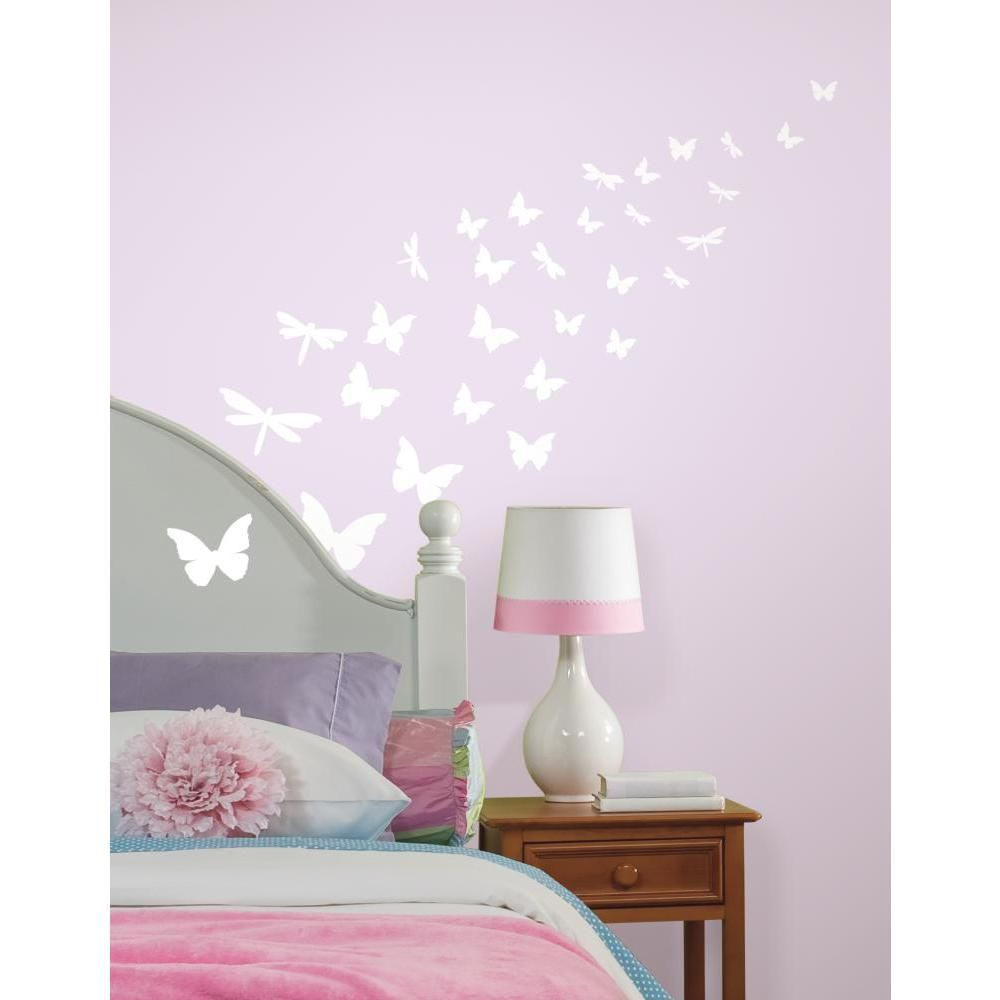 Stickers phosphorescents papillons & libellules-2